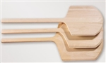 Standard Blade Short Handle Wood Peels - 16 in. x 17 in.