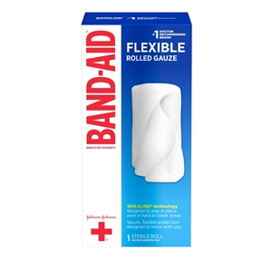 Johnson and Johnson First Aid Rolled Gauze - 4 in. x 2.5 Yards