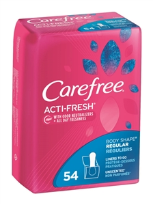 Carefree Pantiliners Regular To Go Unscented