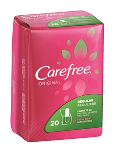 Carefree Original Scented Liner with Baking Soda