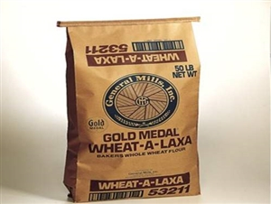 Wheat-A-Laxa Whole Wheat Flour Coarse Ground Untreated - 50 Lb.