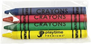 Primo Color Crayons 4 Pack Cello 4 Colors