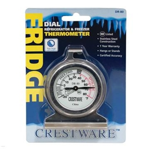 Dial Refrigerator Freezer Thermometer