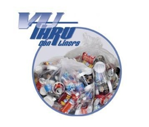 Vu-Thru Clear Perforated Roll Can Liner - 33 in. x 39 in.