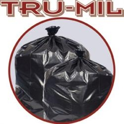 Tru-Mil Black Perforated Roll Can Liner - 24 in. x 32 in.