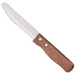 Jumbo Round Pointed Tip Wood Handle Steak Knife