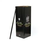 Unwrapped Giant Straw Black - 10.25 in.