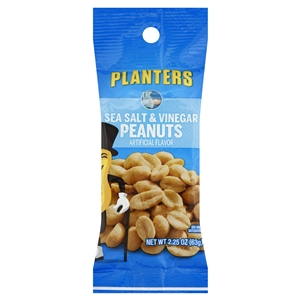 Planters Snack Nuts Tube Sea Salt and Vinegar - 2.25 Oz.