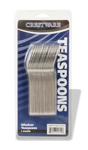 Windsor Medium Teaspoon Clear Pack