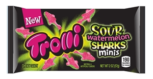Trolli Sour Watermelon Sharks Minis - 2 Oz.