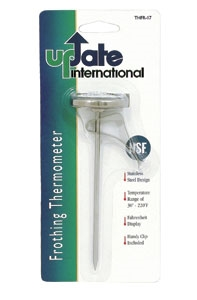 Thermometer Frothing 1.75 in. Dial With Clip