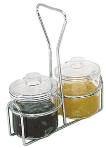 Condiment Jar Plastic with Lid - 7 Oz.
