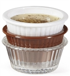 Ramekin Fluted Clear - 1 Oz.