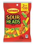 Sathers Sour Heads - 3 Oz.
