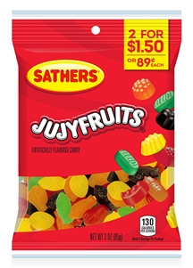 Sathers Jujy Fruits - 3 Oz.