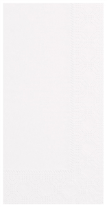 Dinner White 3 Ply 1/8 Fold Regal Embossed Paper Napkin - 17 in. x 17 in.