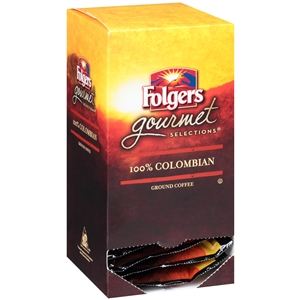 Folgers Gourmet Selection 100 Percentage Colombian Coffee Pods - 10 g.