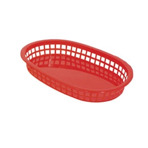 Oval Fast Food Basket Red - 10.5 in. x 7 in.