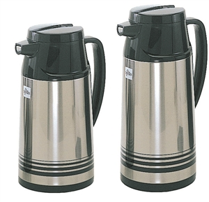 Stainless Steel Body Glass Lined Vacuum Jug - 33 Oz.
