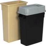 Wall Hugger Receptacle Black - 23 Gal.