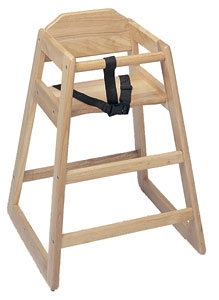 Heavy Duty High Chair Natural Wood Finish