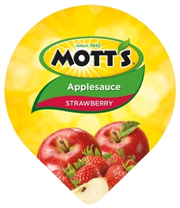 Motts Applesauce Strawberry United States Tub - 4.5 Oz.
