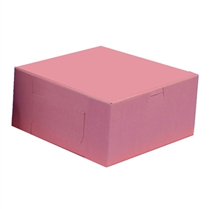 1 Piece Lock Corner Strawberry Bakery Box - 10 in. x 10 in. x 4 in.