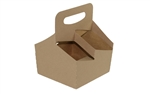 Cup Carrier Kraft 4 Cup - 32 Oz.