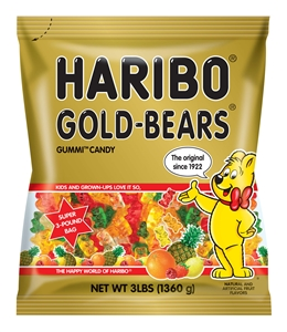 Haribo Gold-Bears Gummi Candy - 3 Lb.