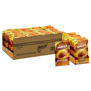 Halls Cough Drops Honey 30 Count