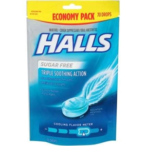 Halls Mentho Lyptus Cough Drops Mountain Mentho Sugar Free
