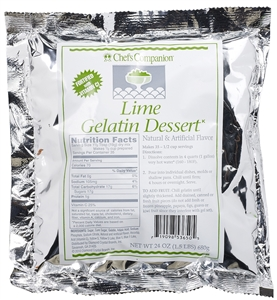 Lime Gelatin Mix  - 24 Oz.