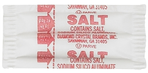 Fluted Salt Packets - 0.75 Gr.
