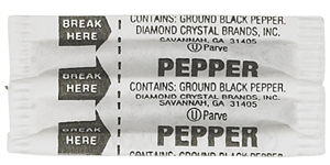 Fluted Pepper Packets - 0.11 Gr.