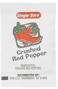 Crushed Red Pepper Packets - 1 Gr.