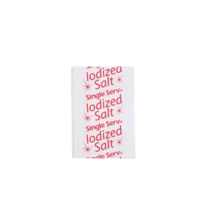 Flat Iodized Salt Packets Poly Bag - 0.6 Gr.