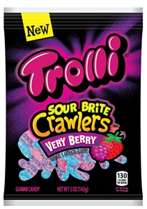 Trolli Sour Brite Crawlers Very Berry - 5 Oz.
