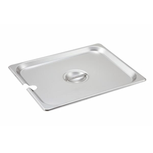 Stainless Steel Steam Pan Cover Half Size Slotted
