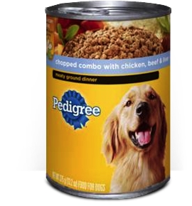 Pedigree Traditional Ground Dinner Chicken Beef Liver - 13.2 Oz.