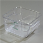 Clear Square Container - 2 Qt.