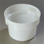 Bains Marie Round Food Storage Container White - 12 Qt.