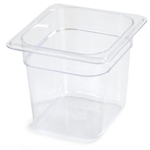 One Sixth Size 6 in. Deep Clear Food Pan