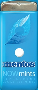 Mentos Nowmints Peppermnt Sugar Free Tin - 1.09 Oz.