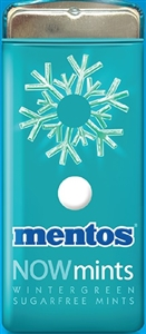 Mentos Nowmints Wintergreen Sugar Free Tin - 1.09 Oz.