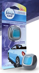 Febreze Car Vent Clip Midnight Storm Air Freshener - 0.06 Fl. Oz.