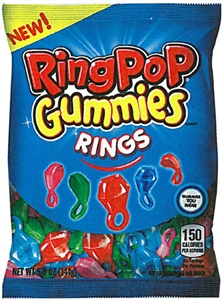 Ring Pop Gummies Rings Peg Bag - 5 Oz.