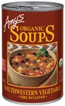 Amys Organic Fire Roasted Southwestern Vegetable Soup - 14.3 Oz.