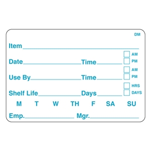 Dome 125 Shelf Life Label - 2 in. x 3 in.