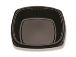 Forum Deep Well Plastic Plate Black - 9 in.