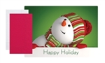 Peeking Snowman Paper Placemat and Napkin Combo Pack Kit